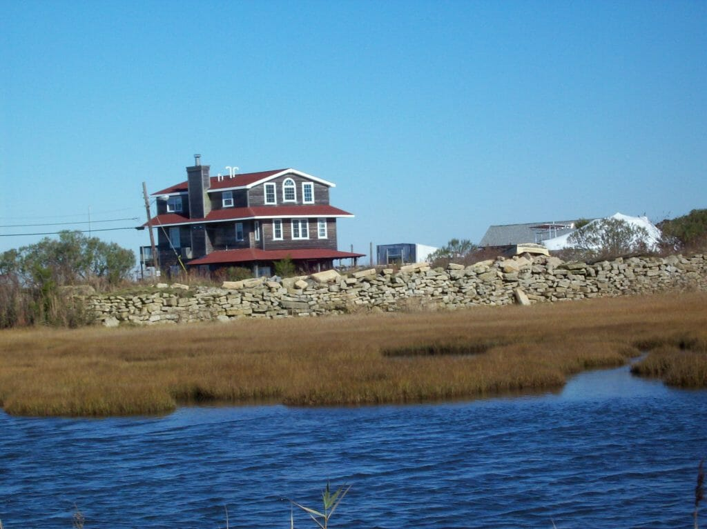 view of Whale Creek Marina store from the bay